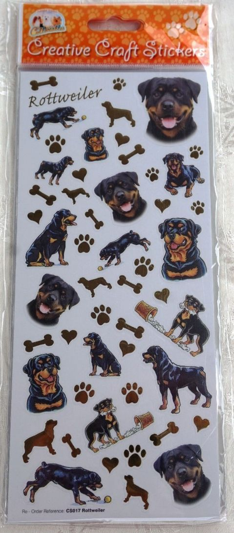 ROTTWEILER - CARD CRAFT STICKERS SCRAPBOOKING